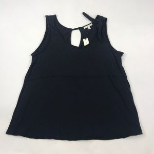 Anthropologie Black Tie Tank